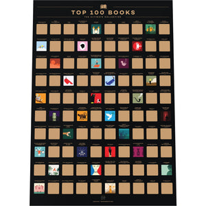 Top 100 Books Bucket List Poster-Enno Vatti