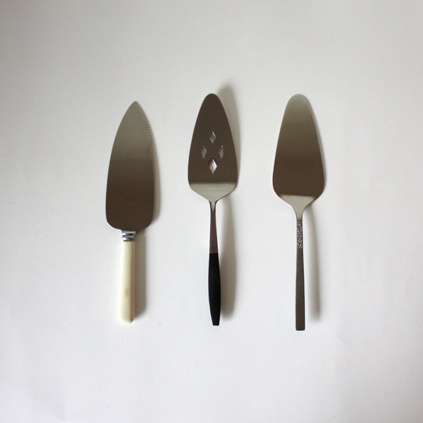 Vintage Stainless Steel Cake Servers