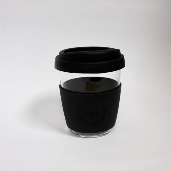 Glass Coffee Cup 12oz Black