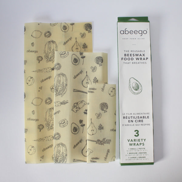 Abeego Food Wraps - 3 Variety