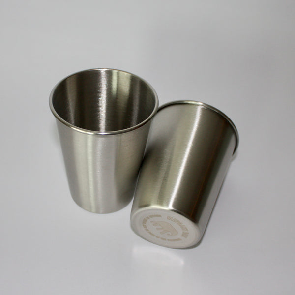 Stainless Steel Cups 350ml - 2 Pack