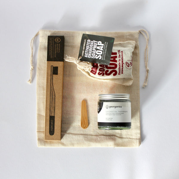 Zero Waste Charcoal Toiletries Set