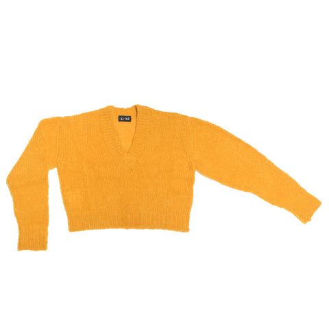 KAEMON CROPPED JUMPER YELLOW