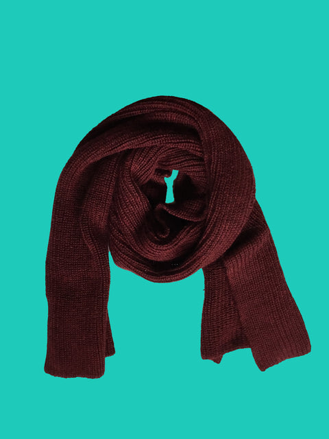 BORDEAUX KIMMY TUCK STITCH SCARF