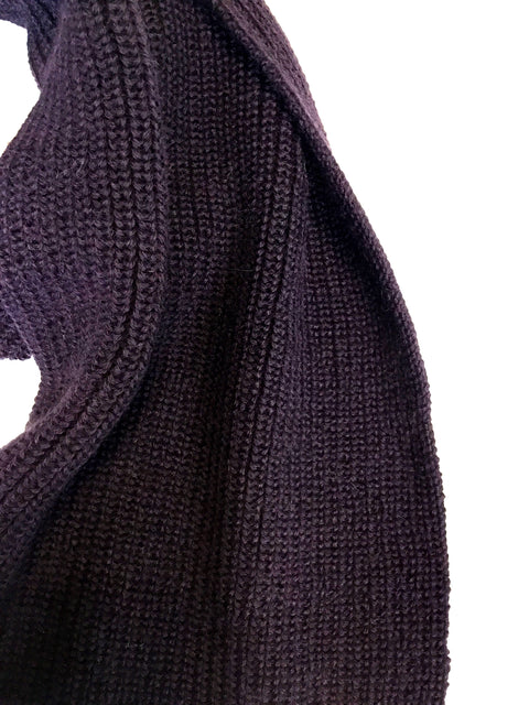 PURPLE KIMMY TUCK STITCH SCARF