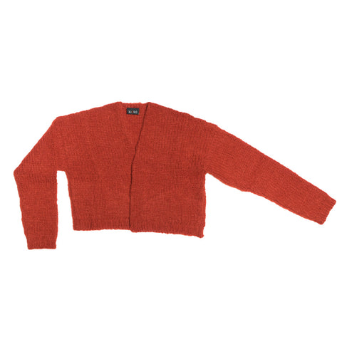 KAMEKO CROPPED CARDIGAN RED