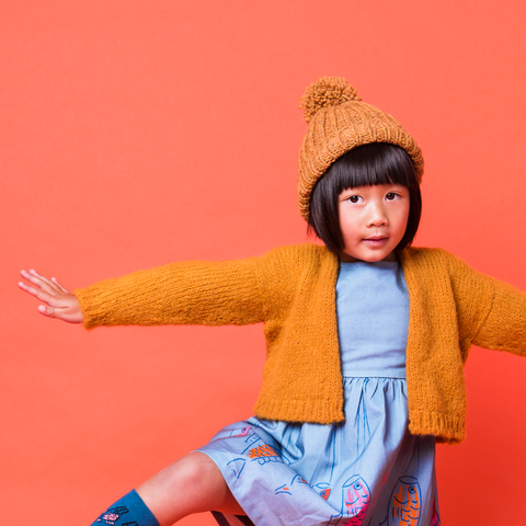KAMEKO CROPPED CARDIGAN YELLOW