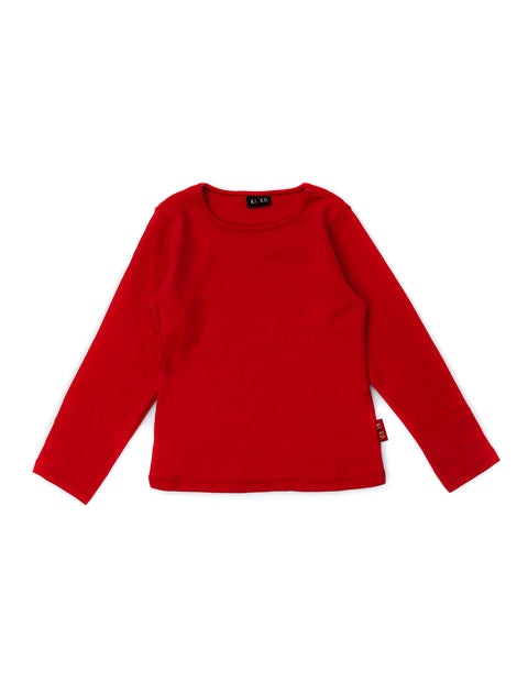FUYUKO LONG SLEEVE T-SHIRT FOR BOYS CHERRY RED