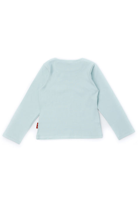 FUYUKO LONG SLEEVE T-SHIRT FOR BOYS CLOUD BLUE