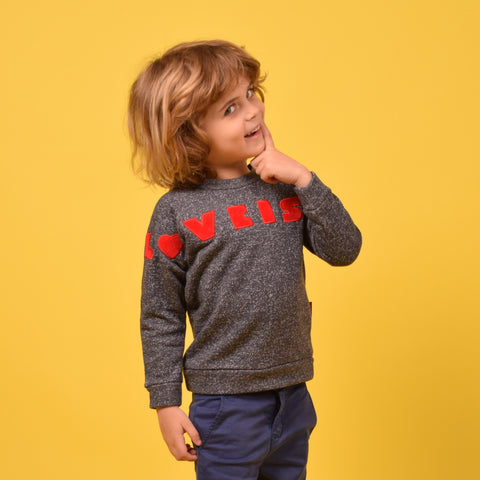 BERI SWEATER LOVE IS ALL AROUND RED