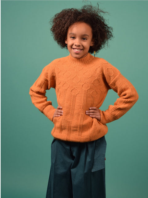 LOTUS KNITTED JUMPER ORANGE UNISEX
