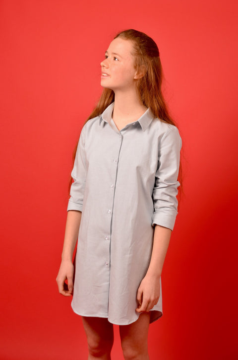 DAIKO SHIRT DRESS CLOUD BLUE