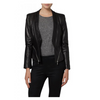 Women Black genuine Leather Jacket With Stylish Back Zip