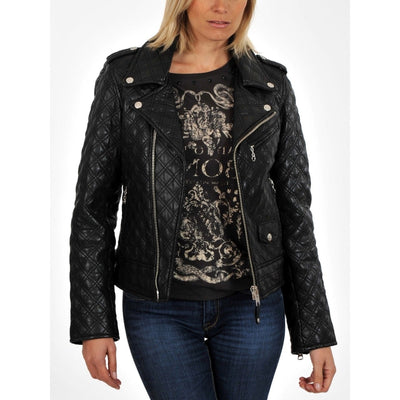 Women Textured And Designer Style Genuine Leather jacket