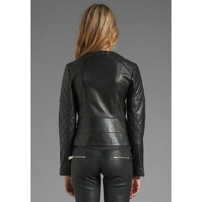 Women Smart And Elegant Looking Shiny  Black Jacket For Girls