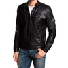Biker Black Men's Designer Leather Jacket-Men Leather Jackets-[leather jackets for men]-[genuine leather jackets for men]-[brown leather jackets for men]-[black leather jackets for men]-ShopperFiesta