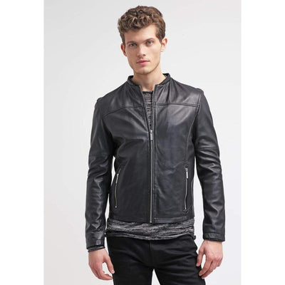 Mcclaran Time Less Black Leather Jacket MJ12-Men Leather Jackets-[leather jackets for men]-[genuine leather jackets for men]-[brown leather jackets for men]-[black leather jackets for men]-ShopperFiesta