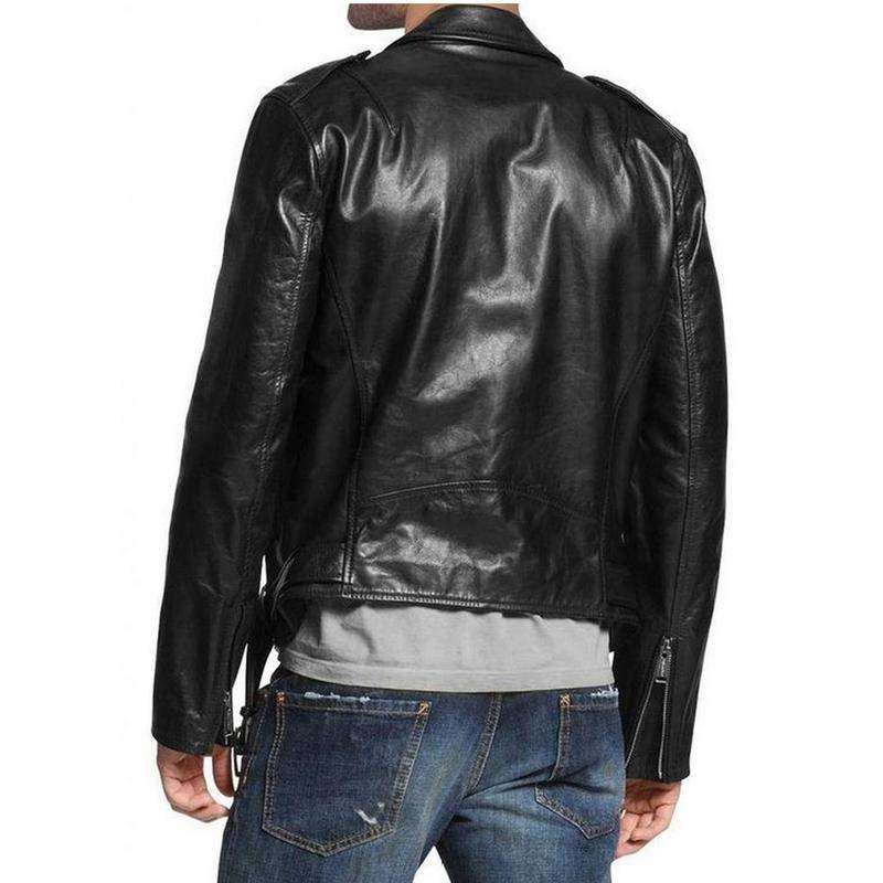 Men Black Casual Sheepskin Genuine Leather Jacket-Men Leather Jackets-[leather jackets for men]-[genuine leather jackets for men]-[brown leather jackets for men]-[black leather jackets for men]-ShopperFiesta
