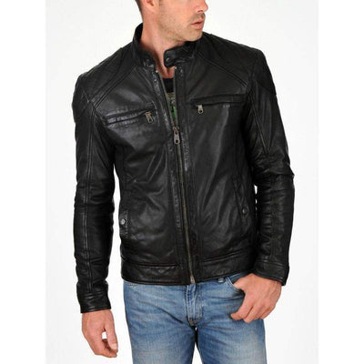 Men Black Lining Of Best Quality Winter Genuine Leather Jacket-Men Leather Jackets-[leather jackets for men]-[genuine leather jackets for men]-[brown leather jackets for men]-[black leather jackets for men]-ShopperFiesta