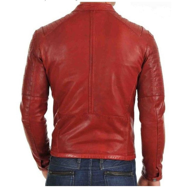 Men Red Premium Leather Jacket-Men Leather Jackets-[leather jackets for men]-[genuine leather jackets for men]-[brown leather jackets for men]-[black leather jackets for men]-ShopperFiesta