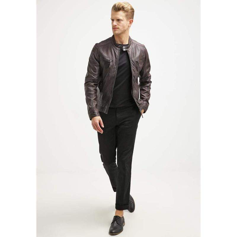 Murrin Classic Brown Leather Jacket MJ15-Men Leather Jackets-[leather jackets for men]-[genuine leather jackets for men]-[brown leather jackets for men]-[black leather jackets for men]-ShopperFiesta