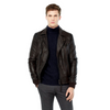 Nubuck Brown Leather Jacket MJ16-Men Leather Jackets-[leather jackets for men]-[genuine leather jackets for men]-[brown leather jackets for men]-[black leather jackets for men]-ShopperFiesta