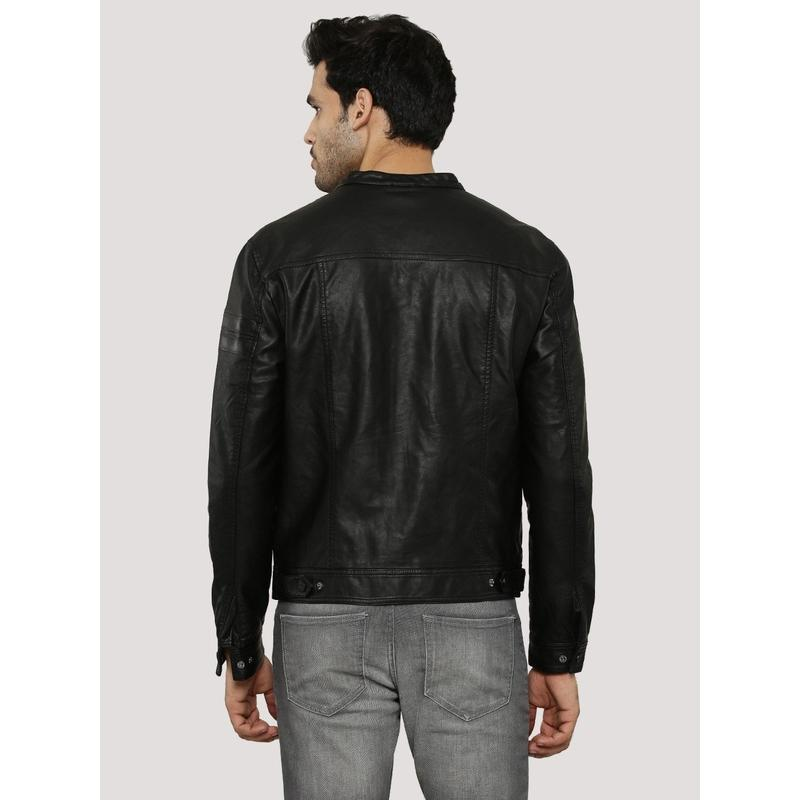 Premium Quality Men's Black Leather Biker Jacket-Men Leather Jackets-[leather jackets for men]-[genuine leather jackets for men]-[brown leather jackets for men]-[black leather jackets for men]-ShopperFiesta