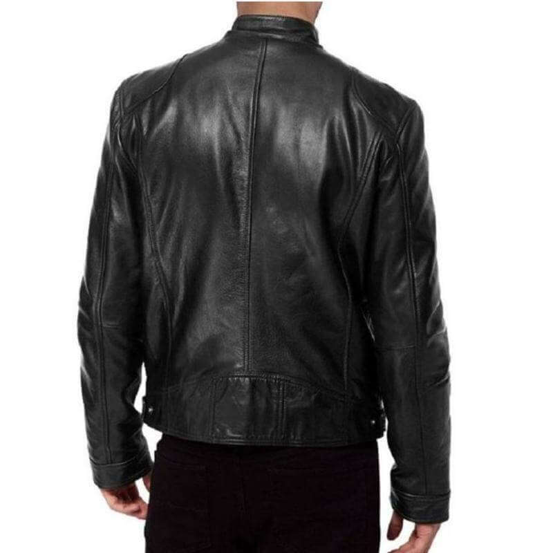 Riccardi  Black Genuine Leather Jacket MJ01