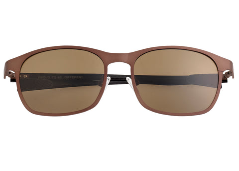 Breed Halley Titanium Polarized Sunglasses - Brown/Brown BSG034BN