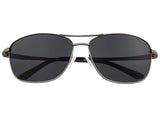 Breed Hera Titanium Polarized Sunglasses - Gunmetal/Black BSG054GY