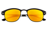 Breed Phase Titanium Polarized Sunglasses - Black/Orange-Yellow BSG058BK