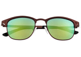 Breed Phase Titanium Polarized Sunglasses - Brown/Green-Blue BSG058BN