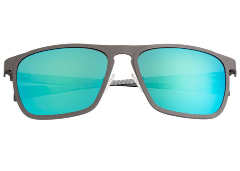 Breed Capricorn Titanium Polarized Sunglasses - Gunmetal/Blue-Green BSG031GM