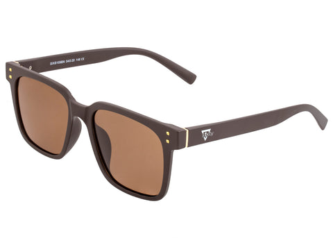 Sixty One Carpi Polarized Sunglasses - Brown/Brown SIXS109BN