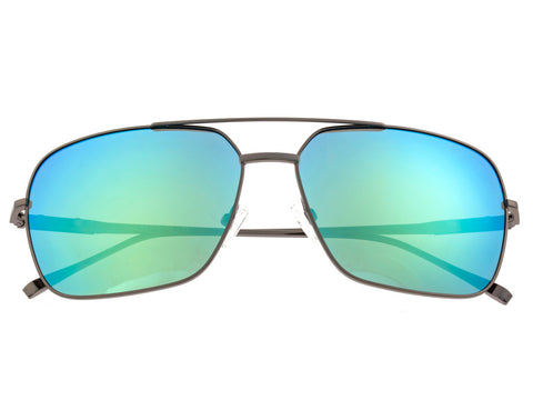 Sixty One Teewah Polarized Sunglasses - Gunmetal/Blue-Green SIXS105GM