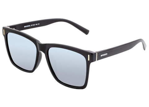Breed Pictor Polarized Sunglasses - Black/Silver BSG065SL