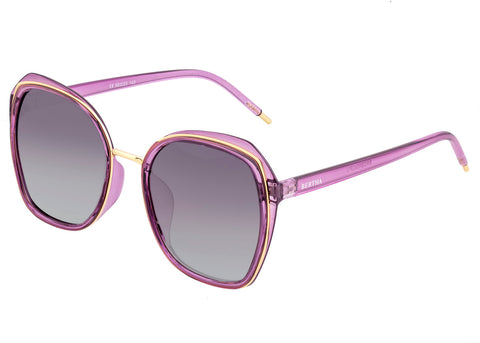Bertha Jade Polarized Sunglasses - Purple/Black BRSBR042PU