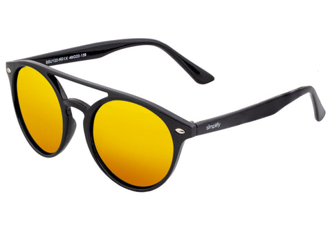 Simplify Finley Polarized Sunglasses - Black/Red-Yellow  SSU122-RD