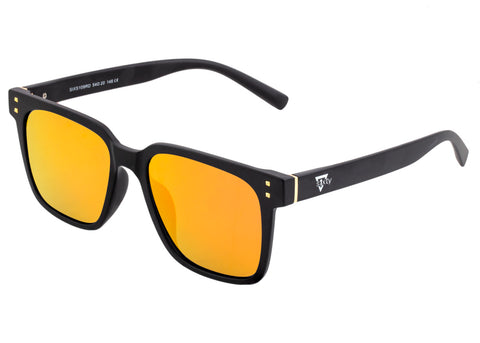 Sixty One Carpi Polarized Sunglasses - Black/Red-Yellow SIXS109RD