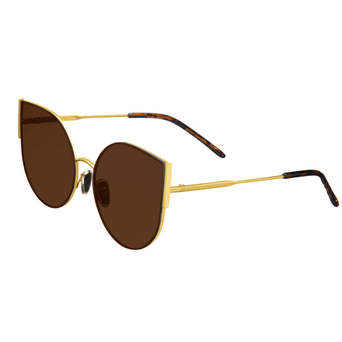 Bertha Logan Polarized Sunglasses - Gold/Brown BRSBR036GD