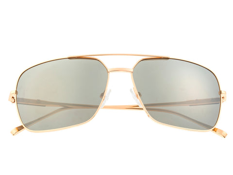 Sixty One Teewah Polarized Sunglasses - Gold/Silver SIXS105GD