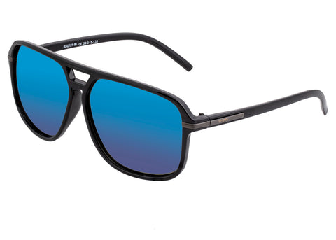 Simplify Reed Polarized Sunglasses - Black/Blue SSU121-BL