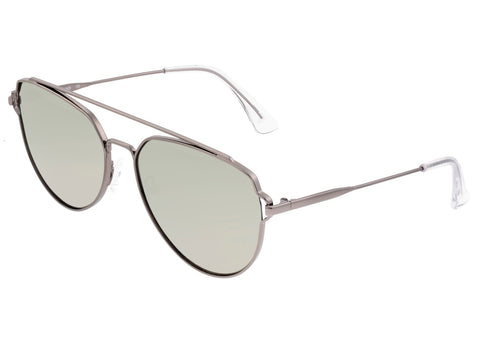 Sixty One Nudge Polarized Sunglasses - Gunmetal/Silver SIXS106GM