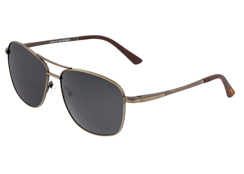 Breed Hera Titanium Polarized Sunglasses - Bronze/Black BSG054BN