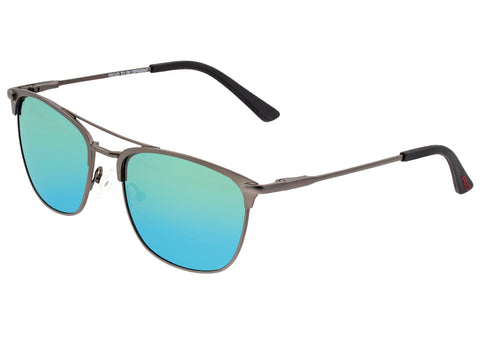 Breed Zodiac Titanium Polarized Sunglasses - Gunmetal/Green-Blue BSG053GM