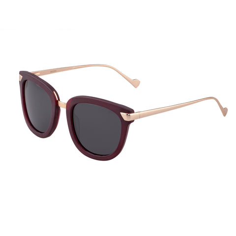 Bertha Arianna Polarized Sunglasses - Burgundy/Black BRSBR043GN