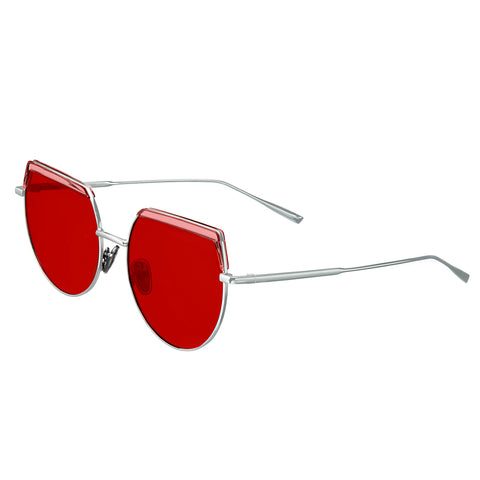 Bertha Callie Polarized Sunglasses - Silver/Red BRSBR032RD