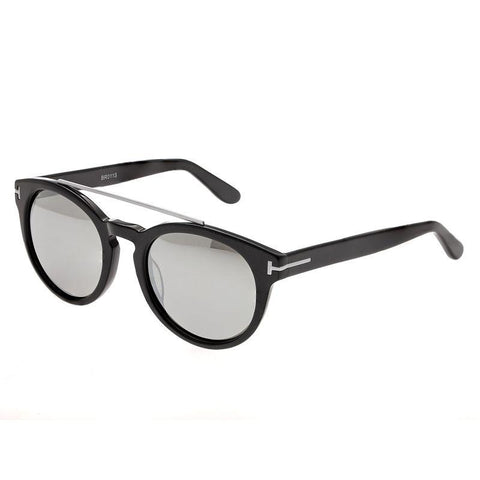 Bertha Ava Polarized Sunglasses - Black/Silver BRSBR011S