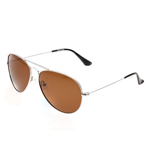 Bertha Brooke Polarized Sunglasses - Silver/Brown BRSBR018S