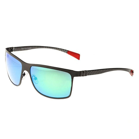 Breed Equator Titanium and Carbon Fiber Polarized Sunglasses - Gunmetal/Blue BSG002GM